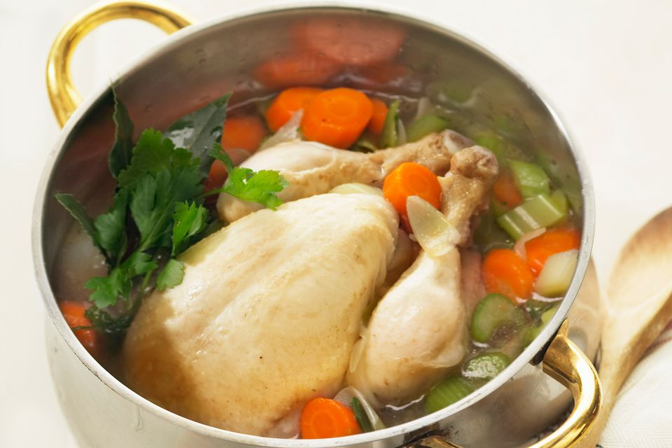 How to poach a whole chicken
