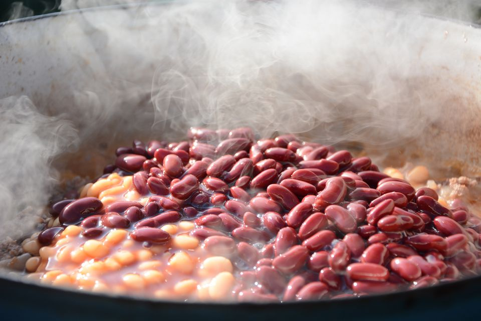 Beans cooking
