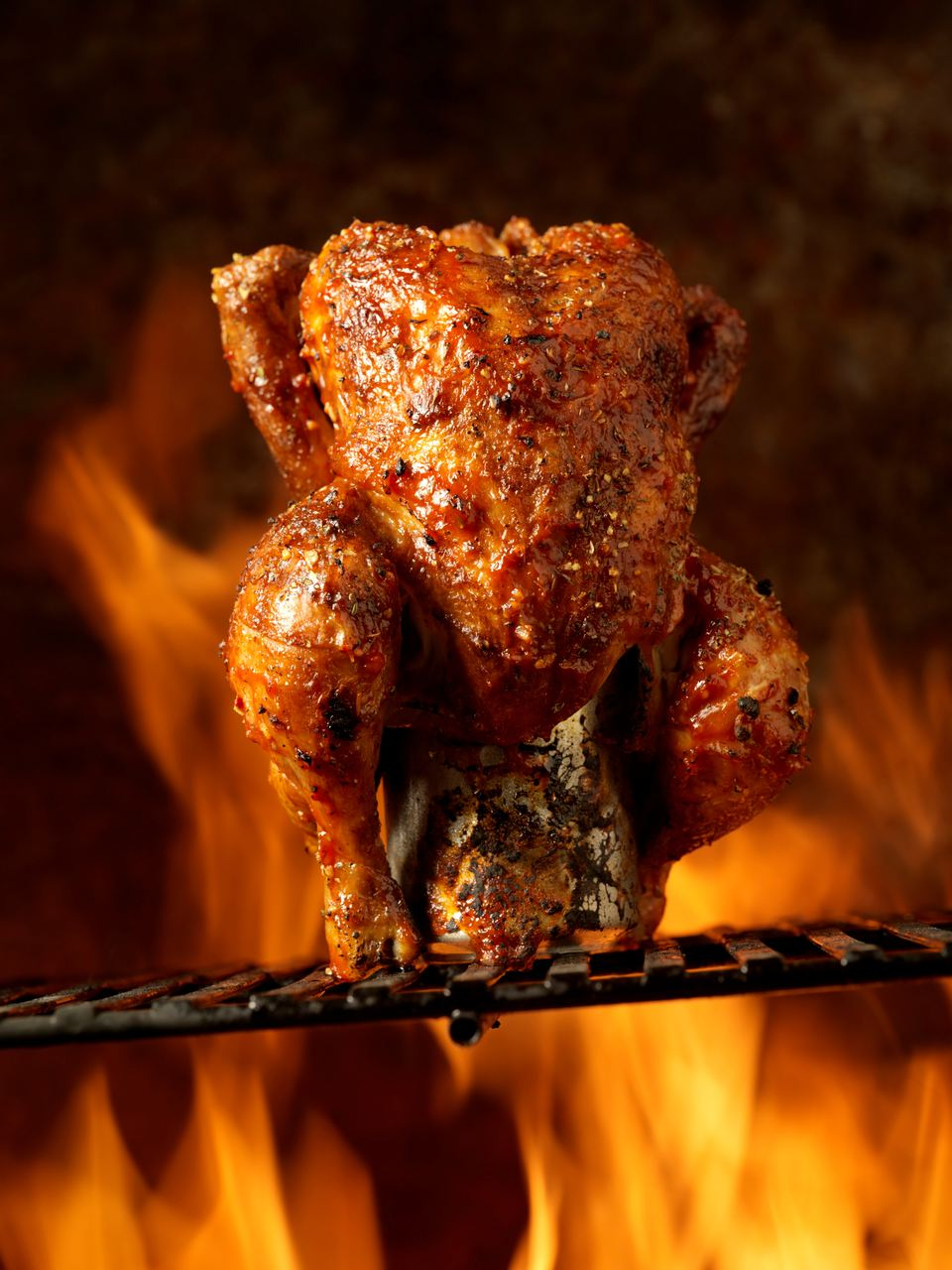 Memphis-style beer can chicken