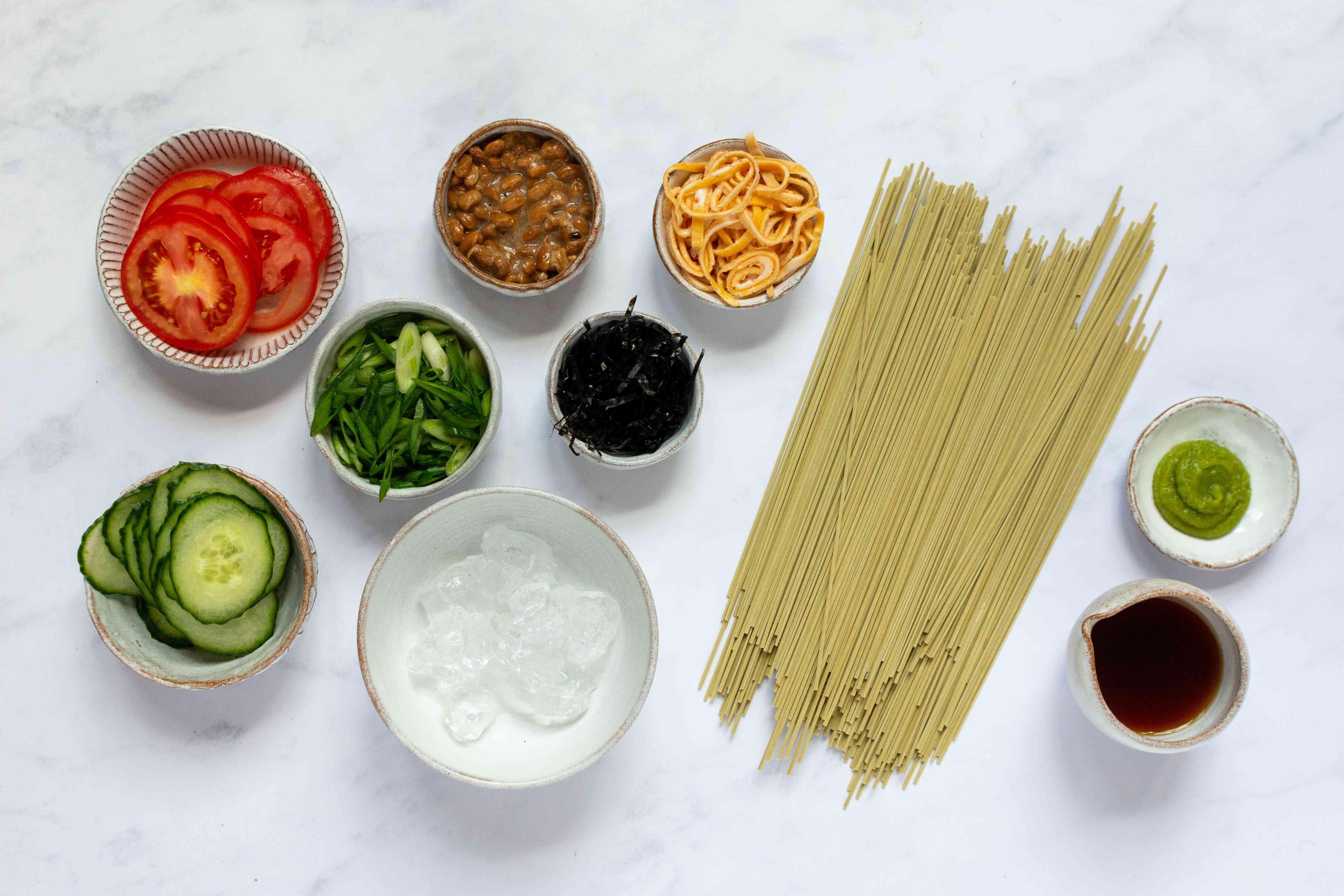 Cold Green Tea Soba Noodles (Cha Soba) ingredients