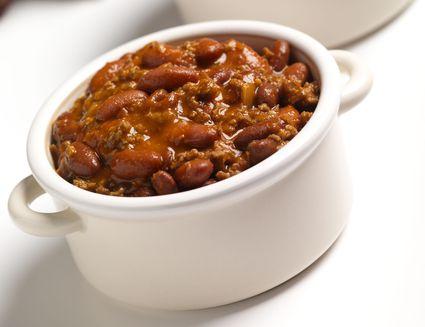 Chunky crock pot chili