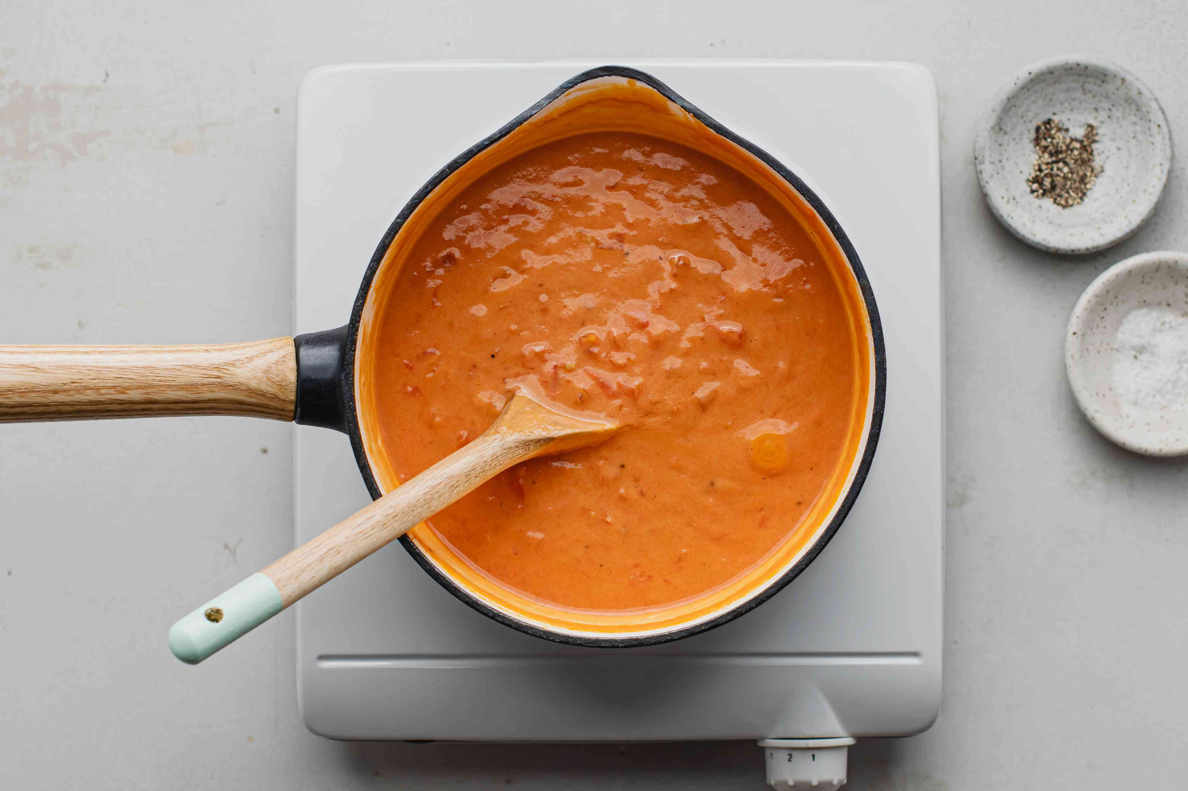 Tomato paste added to the old-fashioned Southern tomato gravy