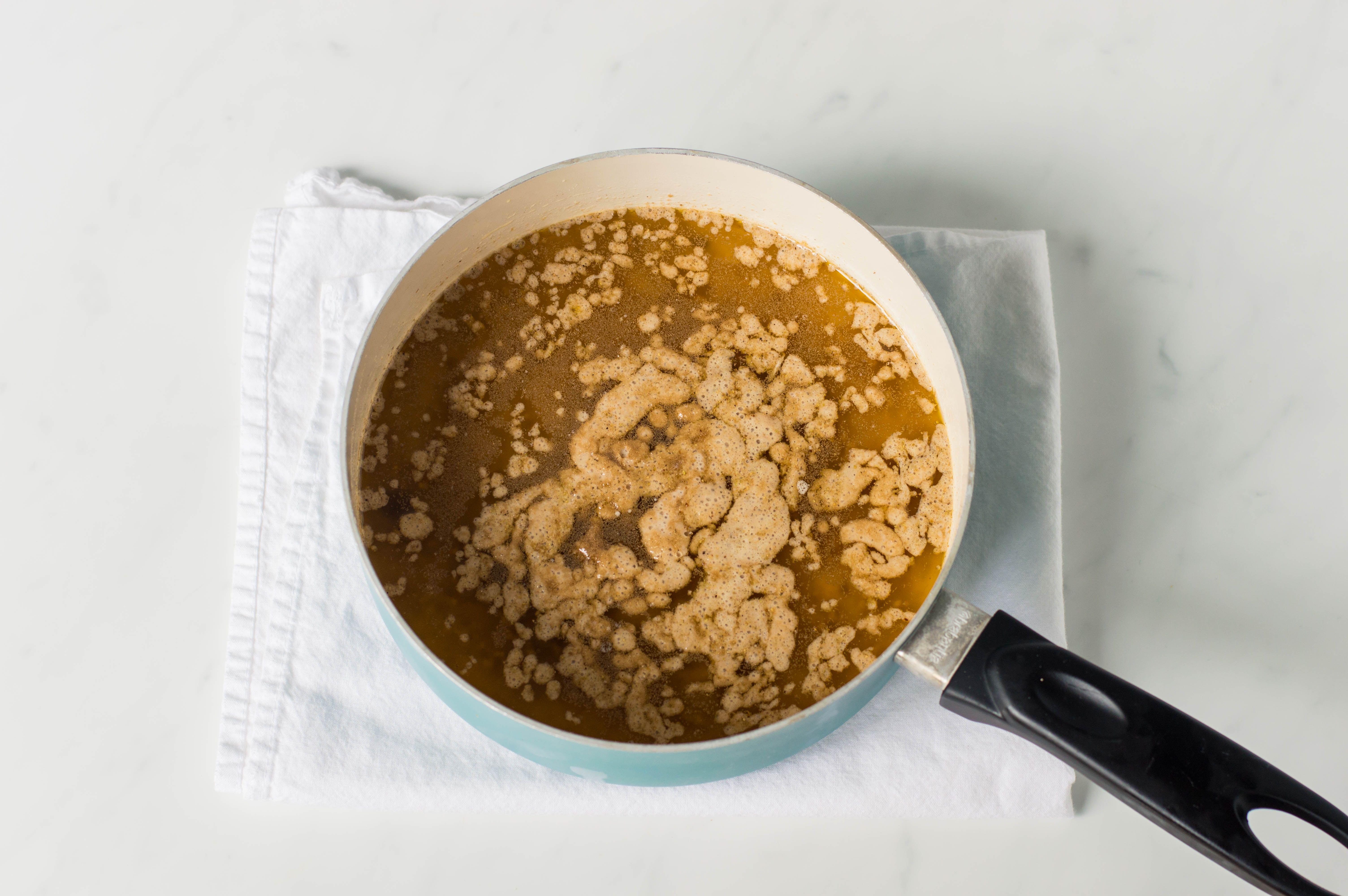 Adding yeast to pot
