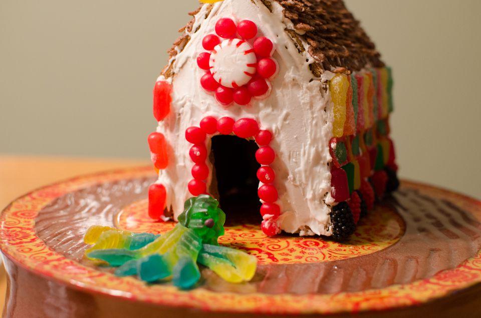 Casa de pan de jengibre fácil para niños