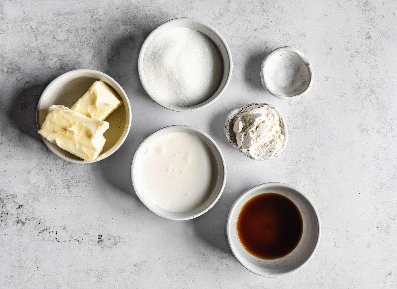 Cooked Vanilla Frosting ingredients