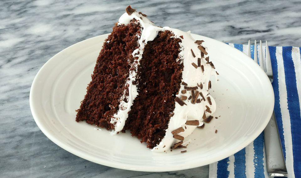 Sour Cream Devil's Food Cake