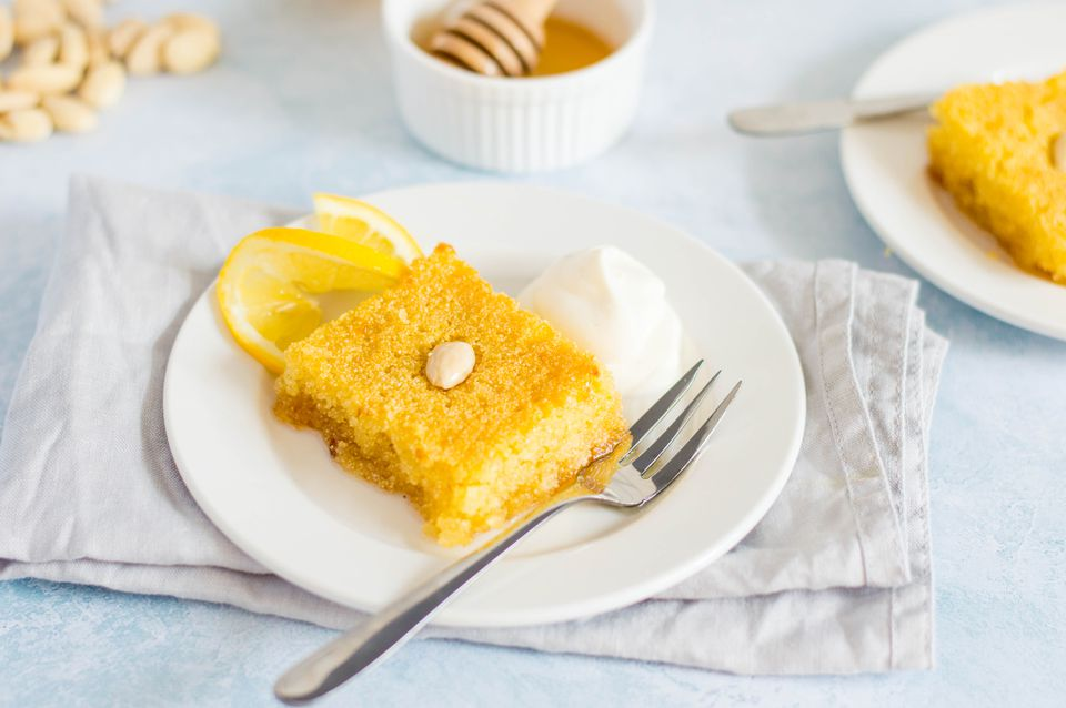 Basbousa (Semolina Cakes With Syrup) Recipe