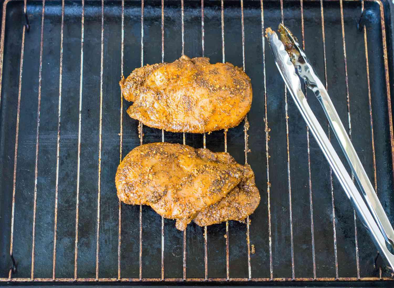 Grilling Cajun chicken