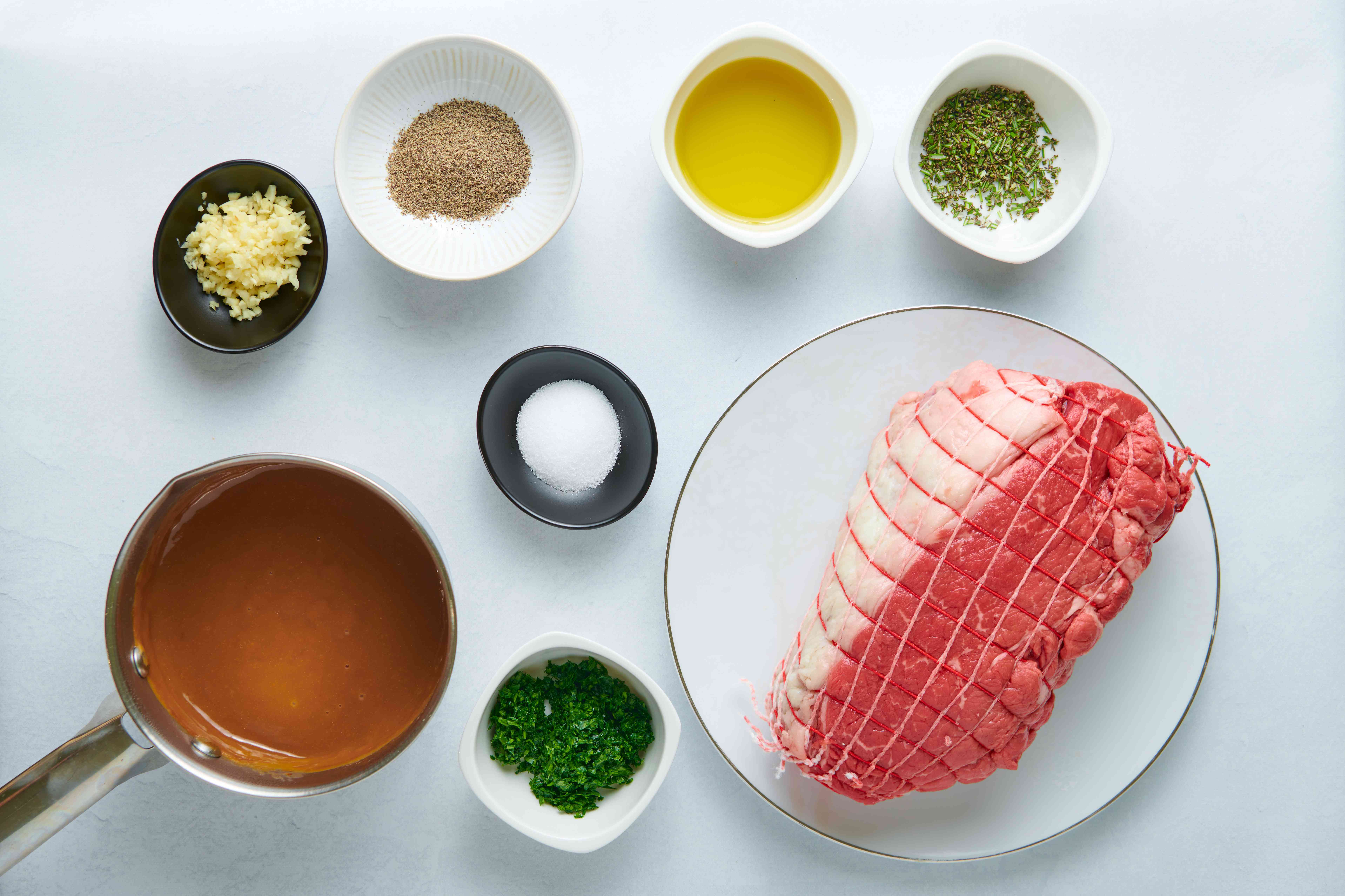 Pepper and Herb Crusted Sirloin Strip Roast ingredients