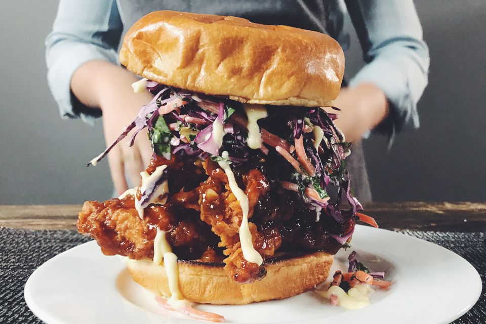 General Tso Fried Chicken Sandwich
