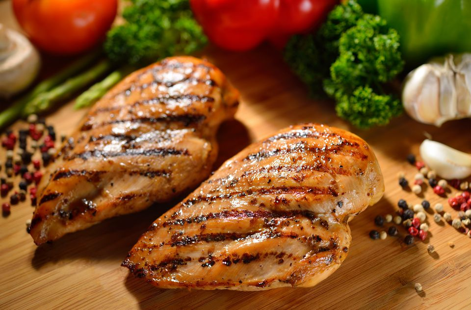 lemon pepper seasoned roasted chicken breast