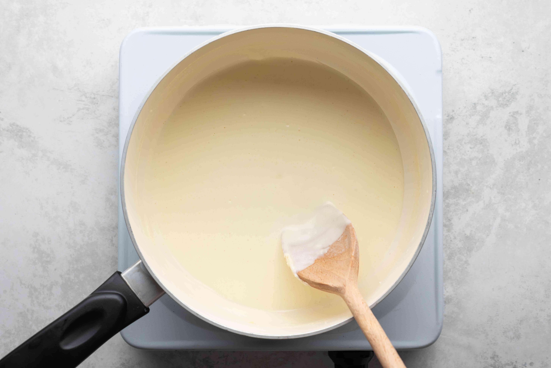milk, flour and butter in a saucepan