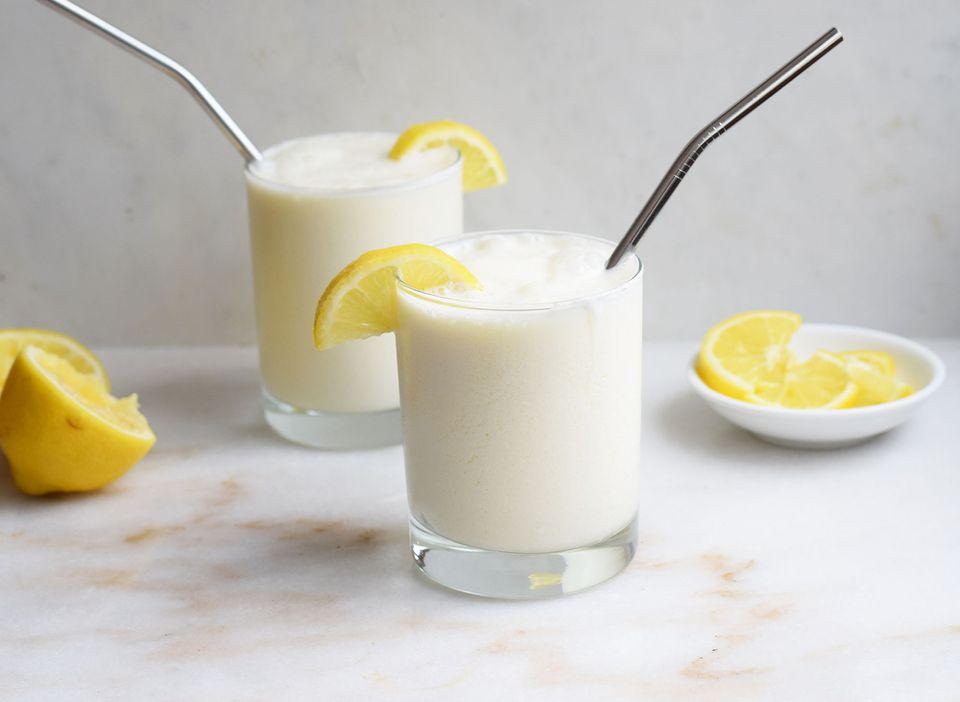 frosted lemonade in glasses