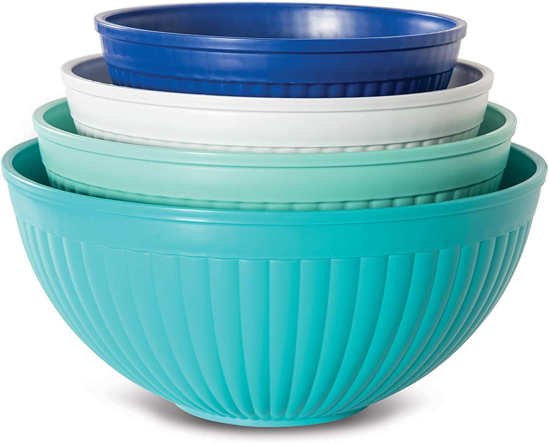Nordic Ware 4-Piece Prep N Serve Mixing Bowl Set