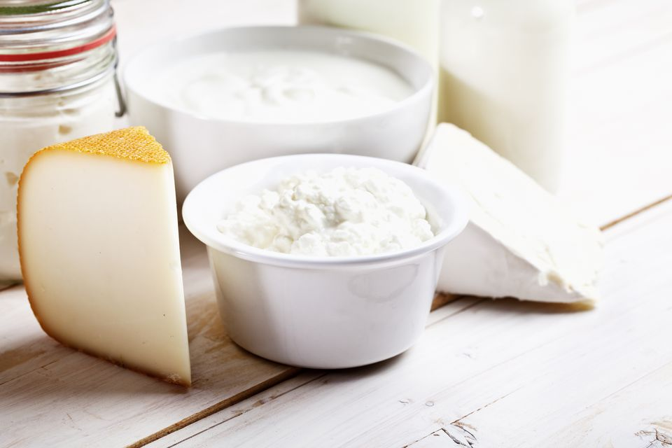 Dairy products: cheese, yoghurt, and milk