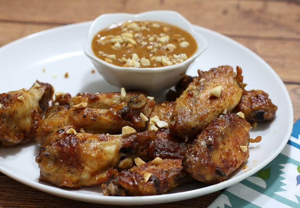 Baked Chicken Wings With Peanut Sauce