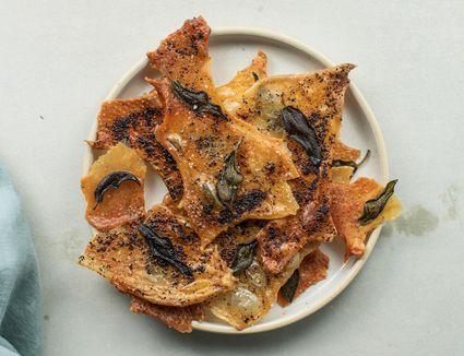 Chicken skin chips recipe