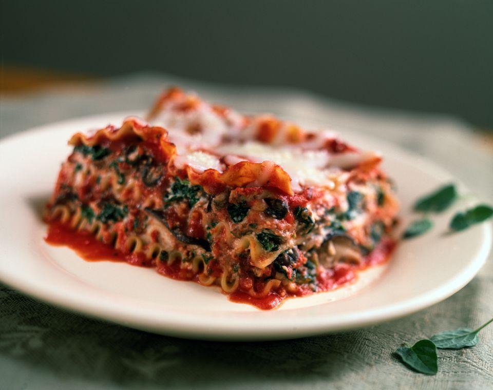 Low Calorie Spinach Lasagna