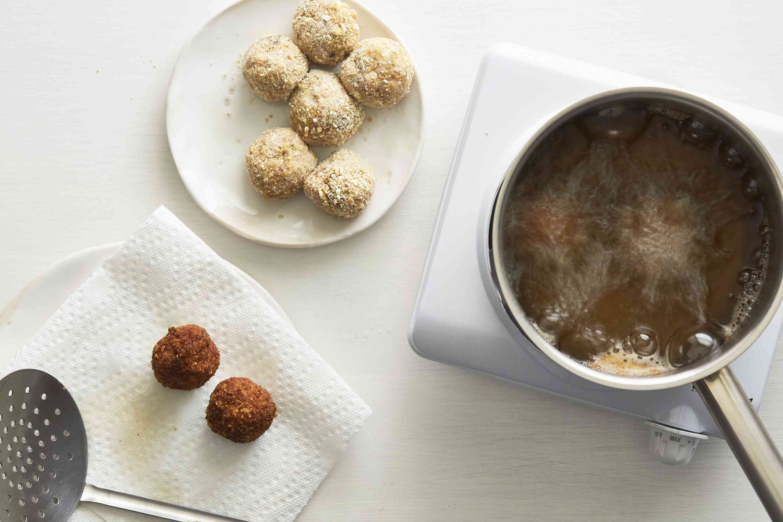 boudin balls fried in oil