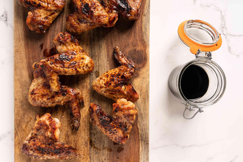 Korean Soy Honey Glaze on chicken wings
