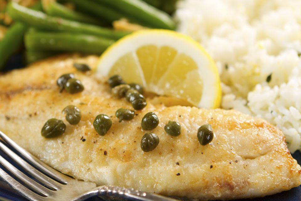 Tilapia and Lemon-Caper Sauce