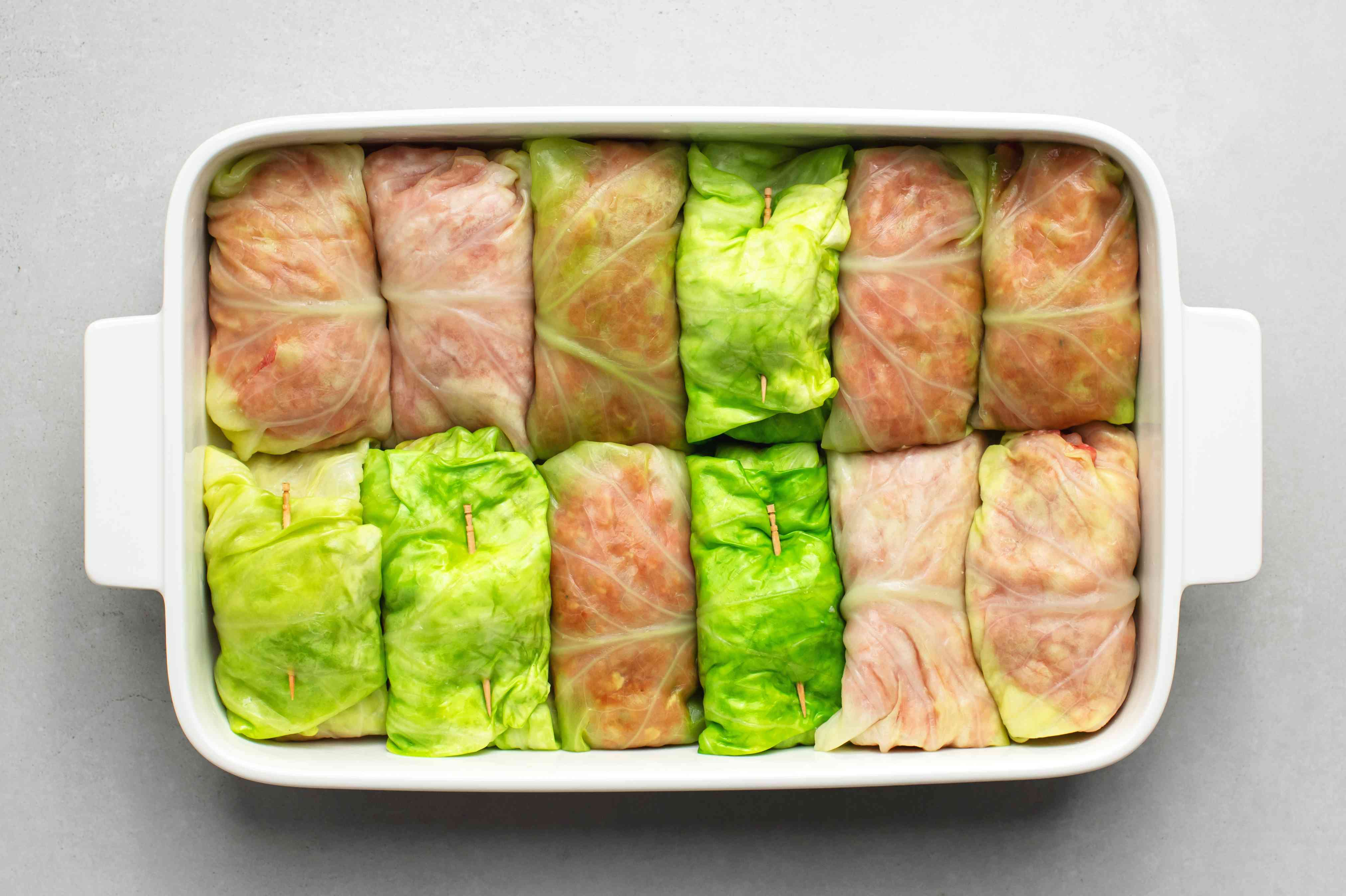 Finish stuffing the remaining cabbage leaves