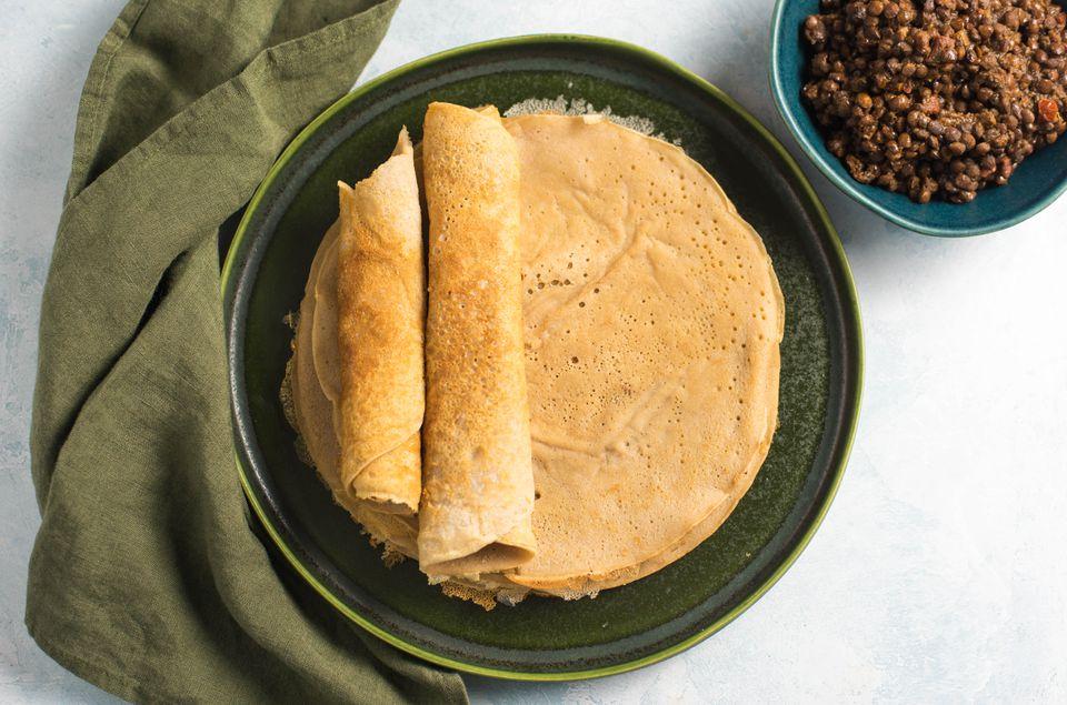 Receta Injera (pan plano etíope agrio)