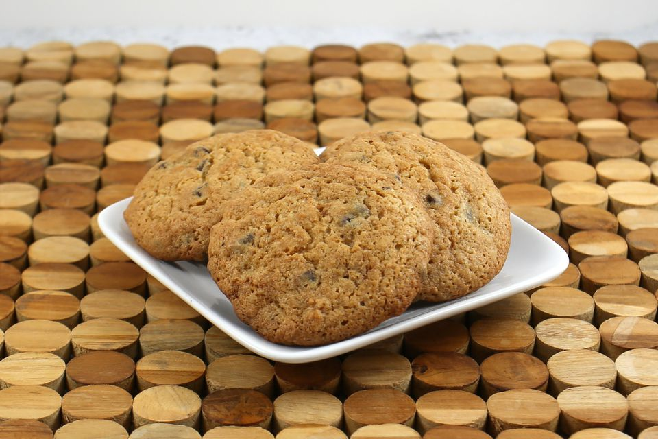 date nut cookies on a plate