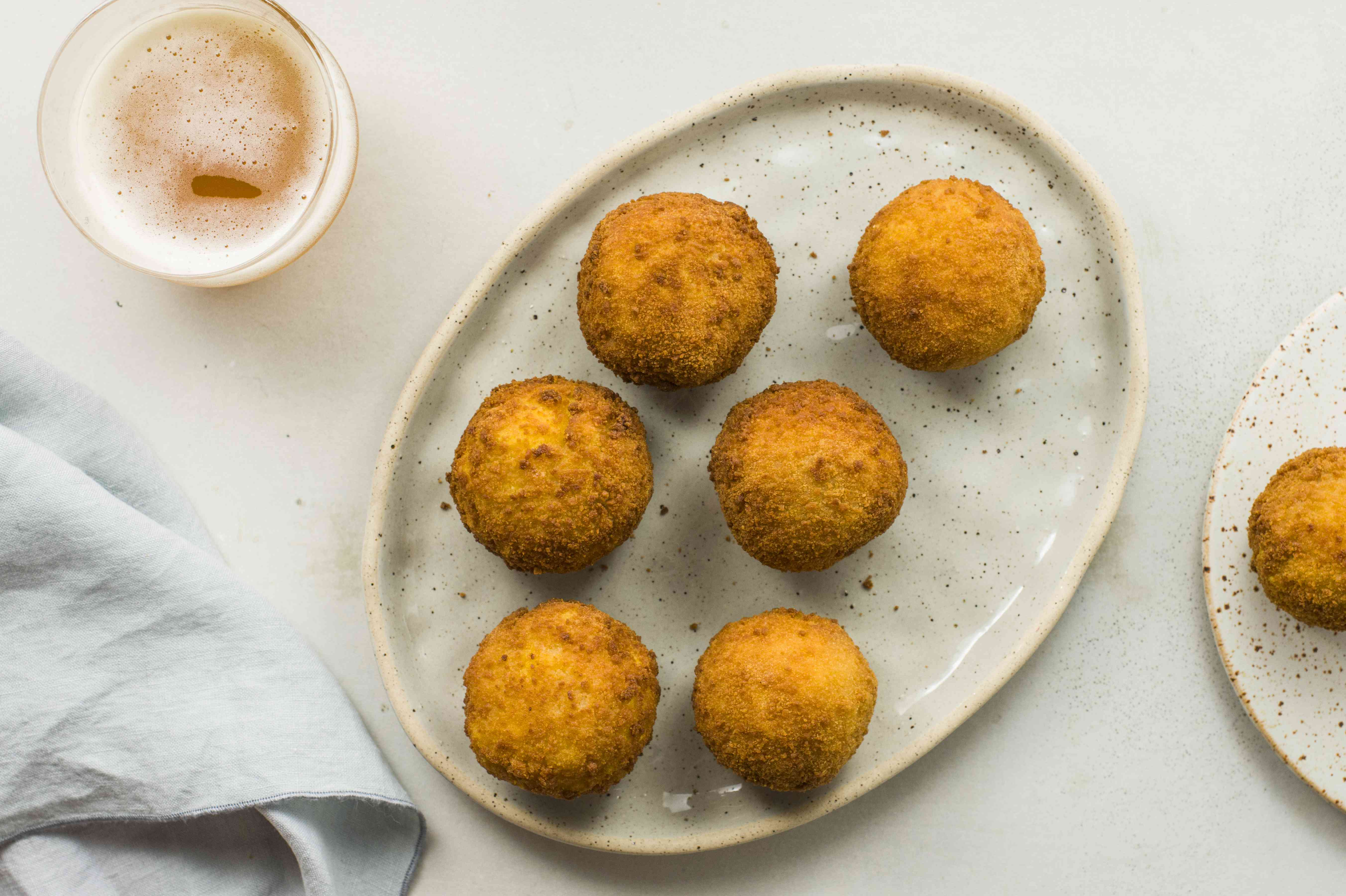 Rice balls on a platter
