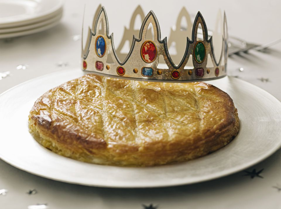 Classic French galette des rois