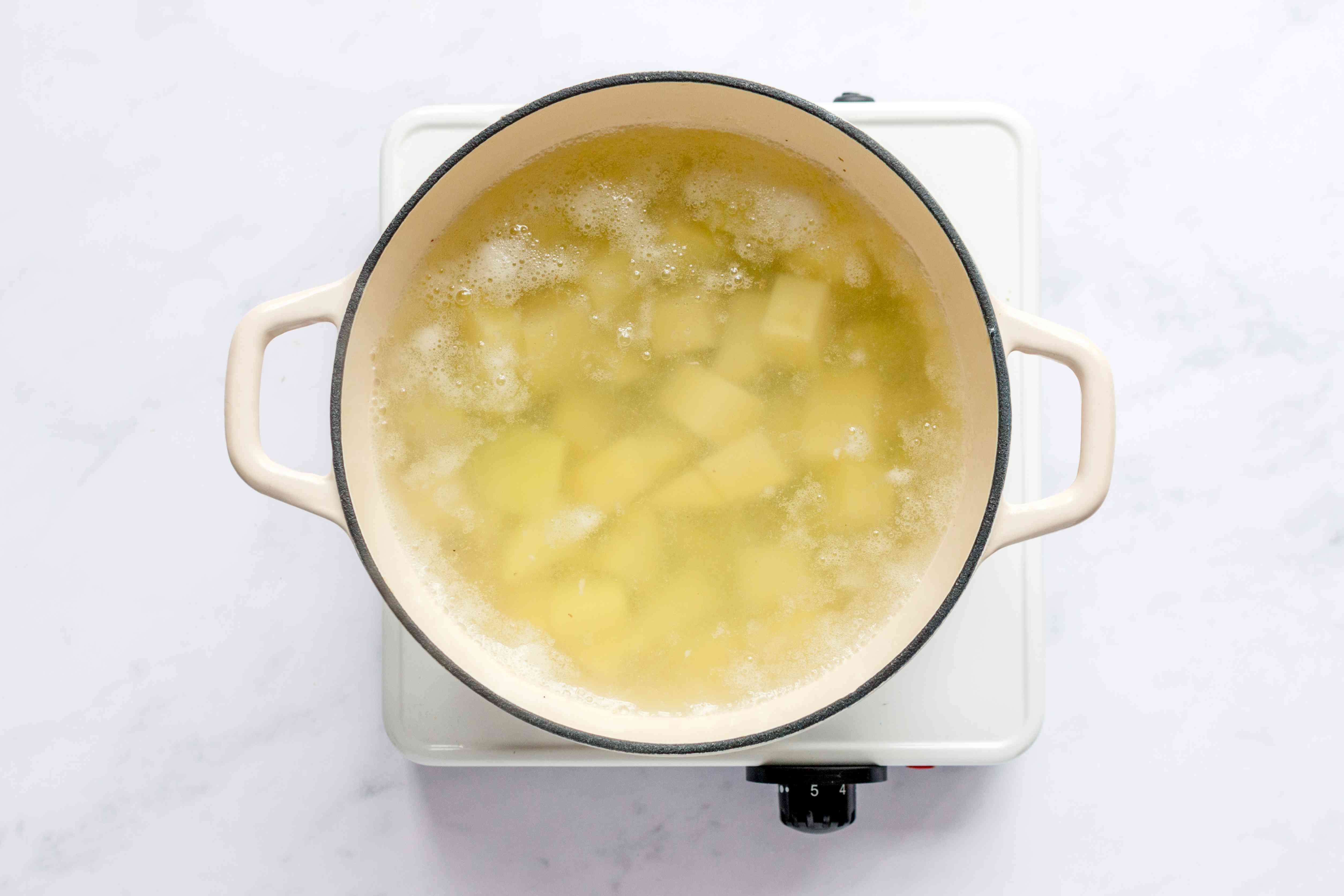 Korean Potato Apple Salad Recipe