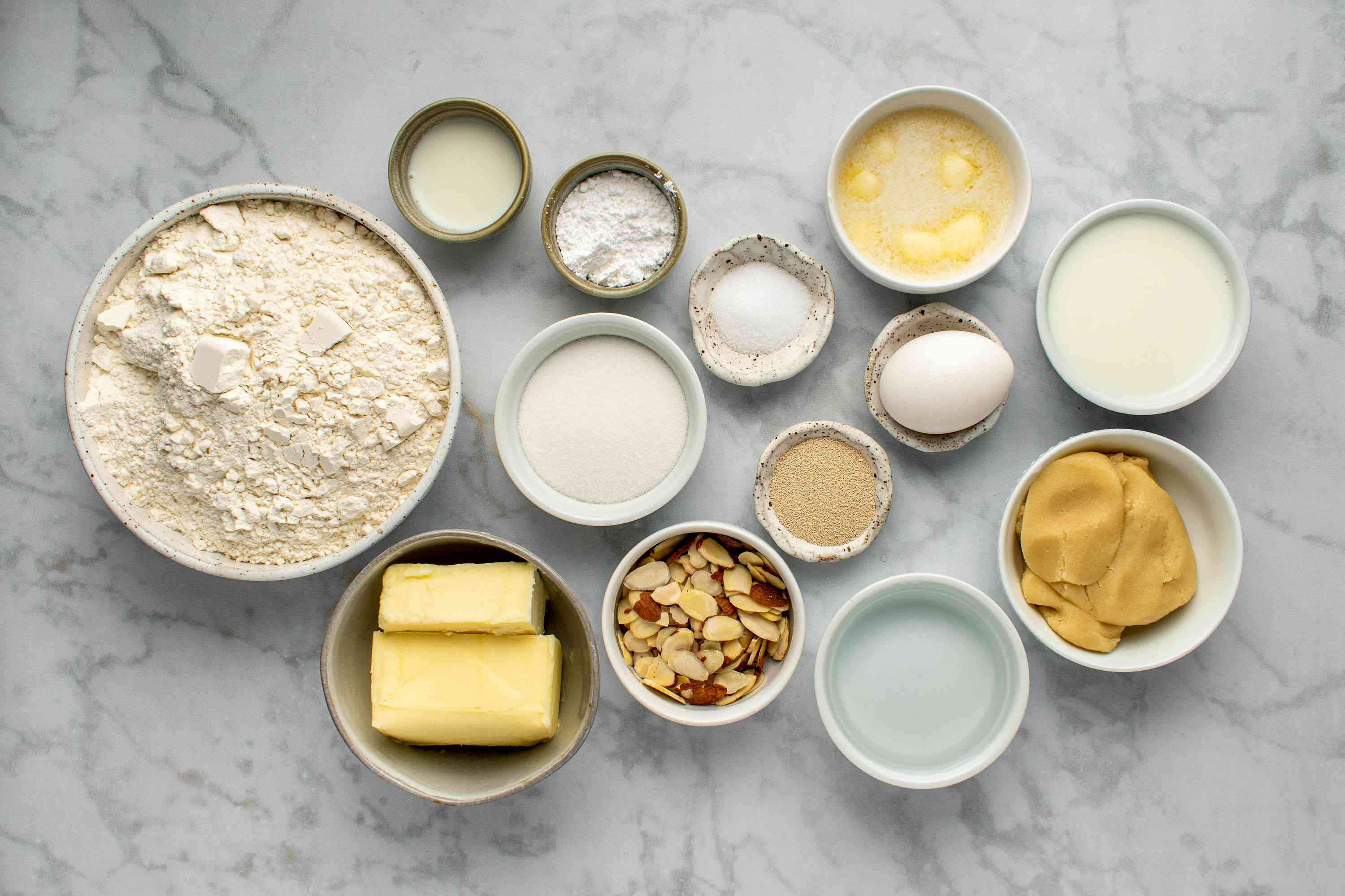 Classic French Almond Croissants ingredients