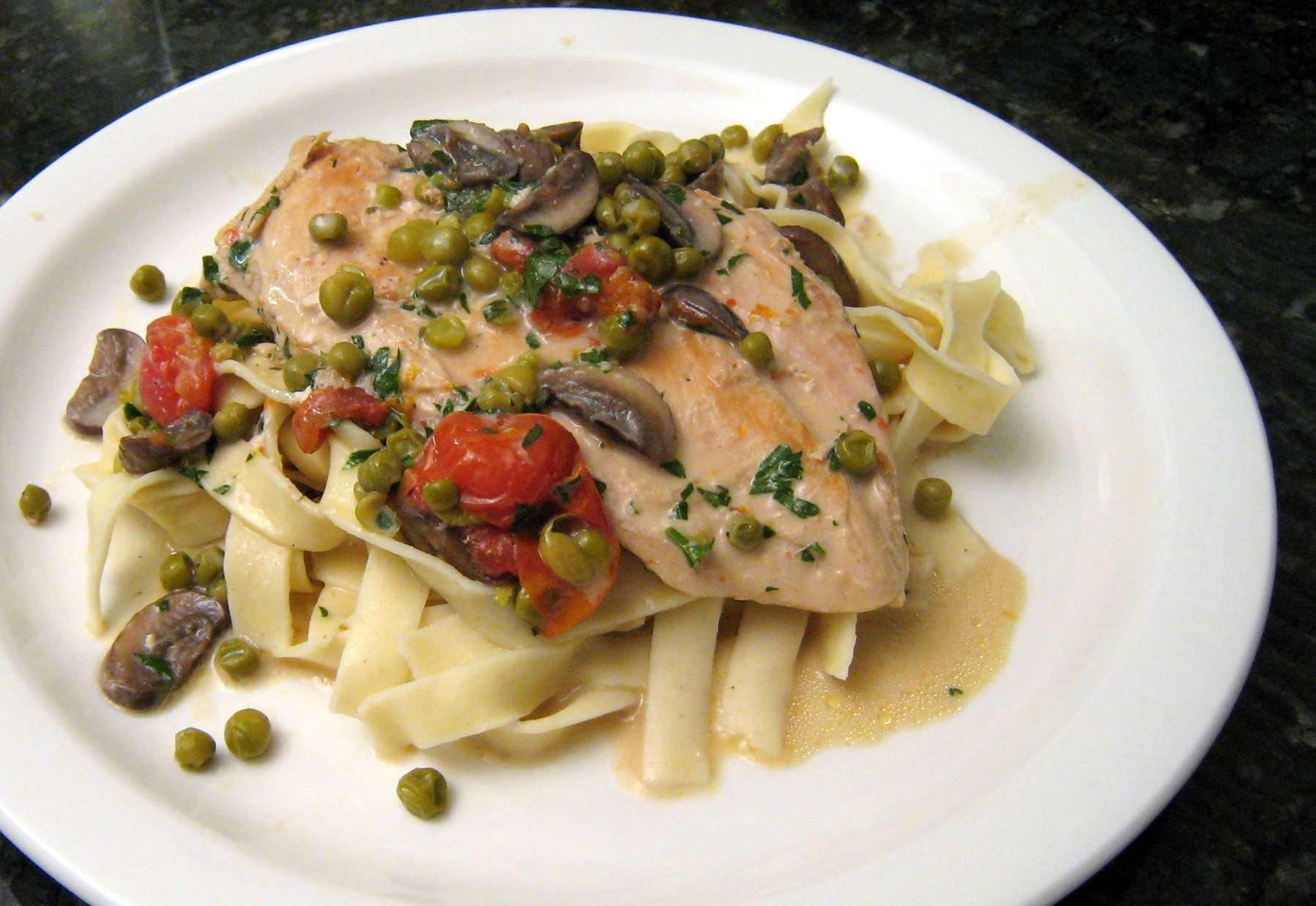 Chicken With Boursin Cheese Sauce