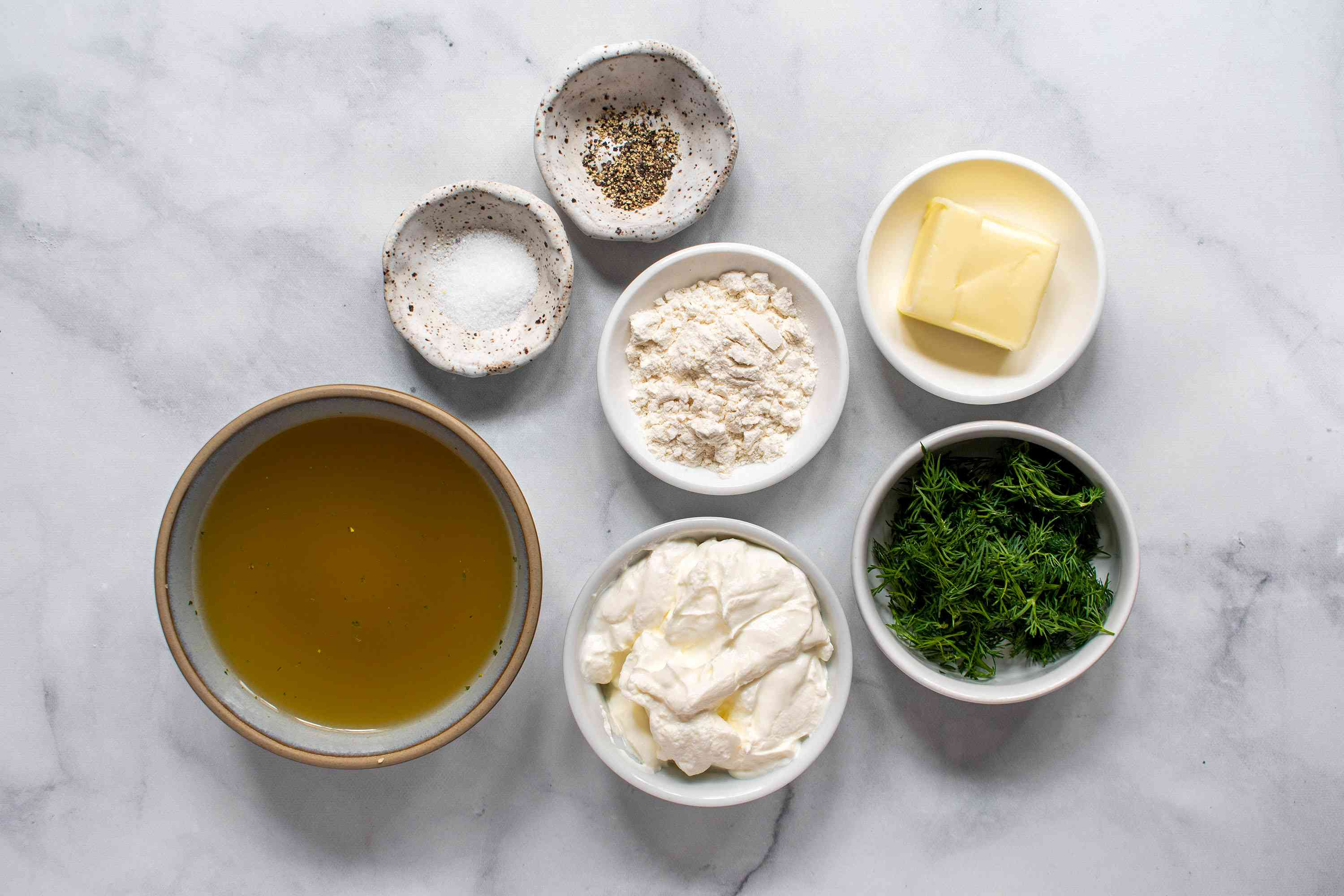 Creamy Dill Sauce ingredients