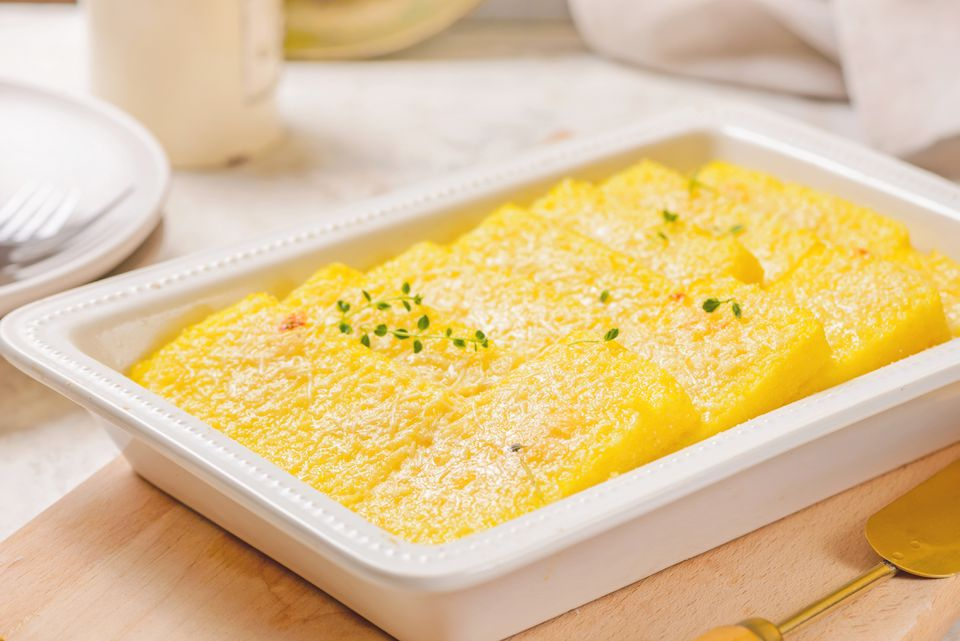 Easy Baked Polenta With Parmesan Cheese