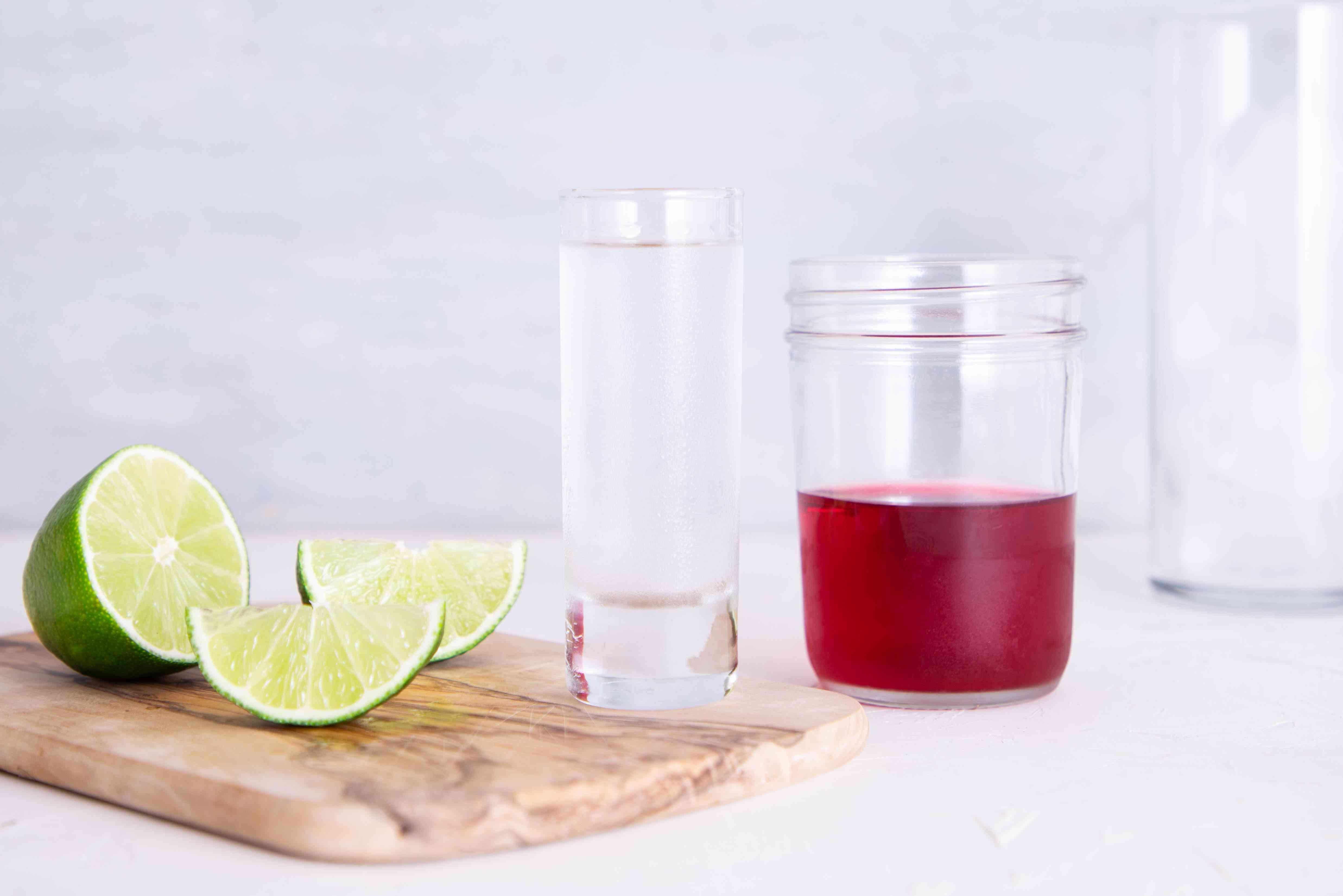 Cape Cod: the Popular Vodka and Cranberry Drink ingredients, lime, vodka, cranberry juice