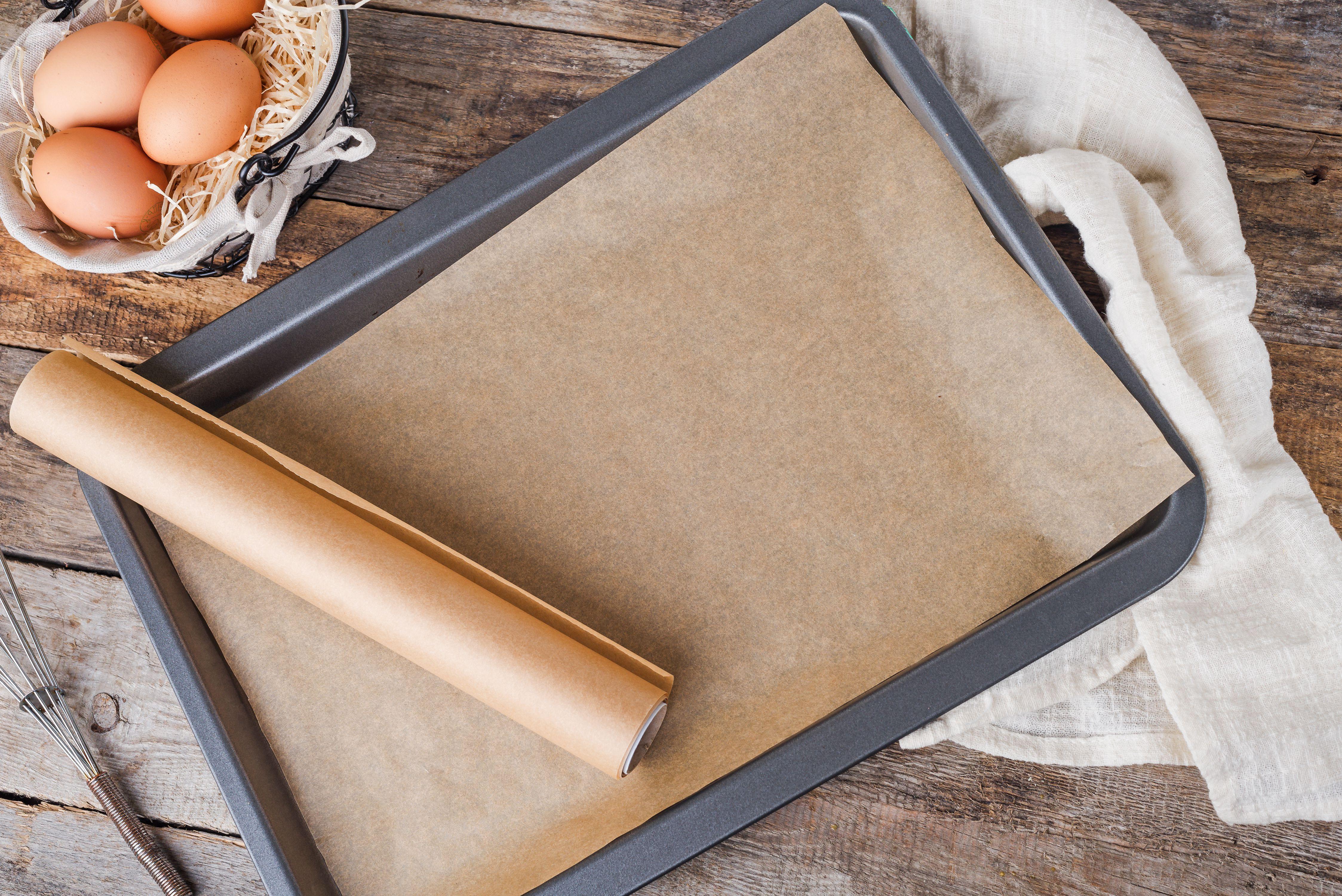Paper on baking sheet