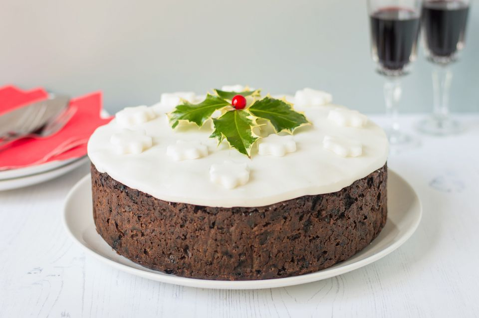 British Christmas Cake.Traditional British Christmas Cake Recipe