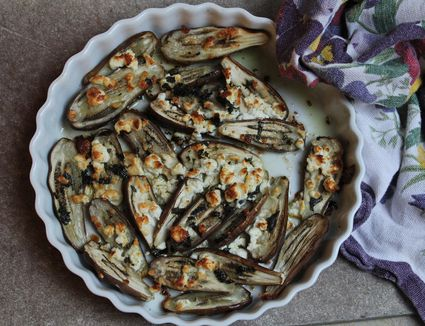 Fairy Tale Eggplant with Mint and Feta