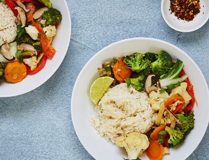 Thai vegetable stir-fry recipe with ginger and lime