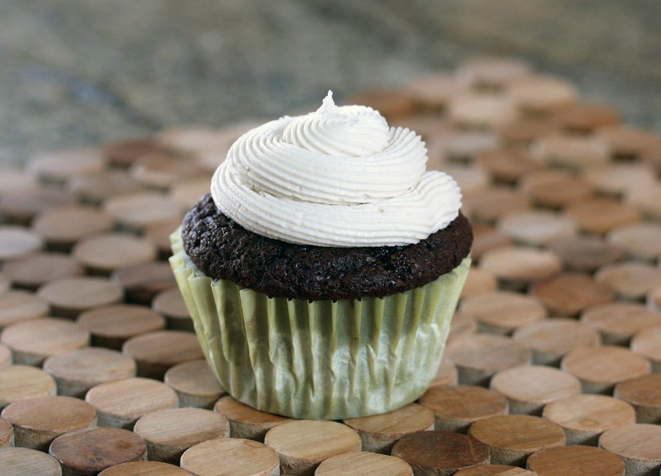 Butter Cream Frosting on Cupcake