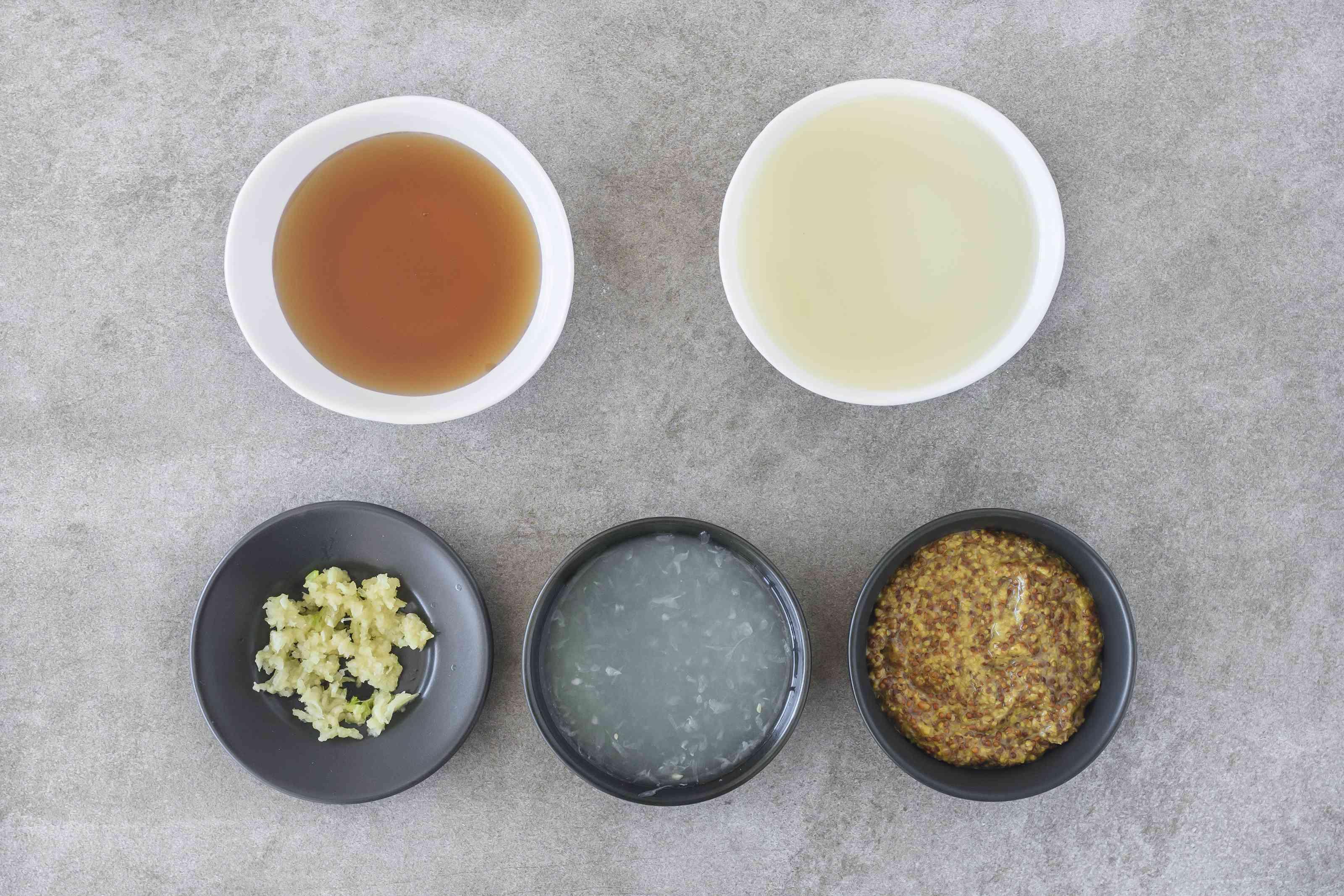 Ingredients for honey mustard turkey marinade