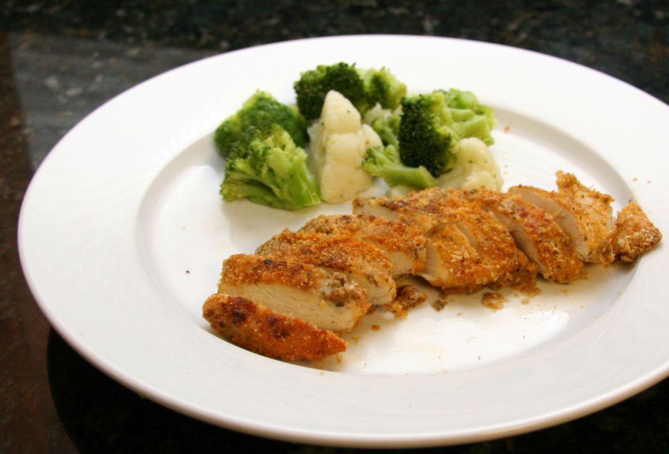 Oven-Fried Pesto Chicken