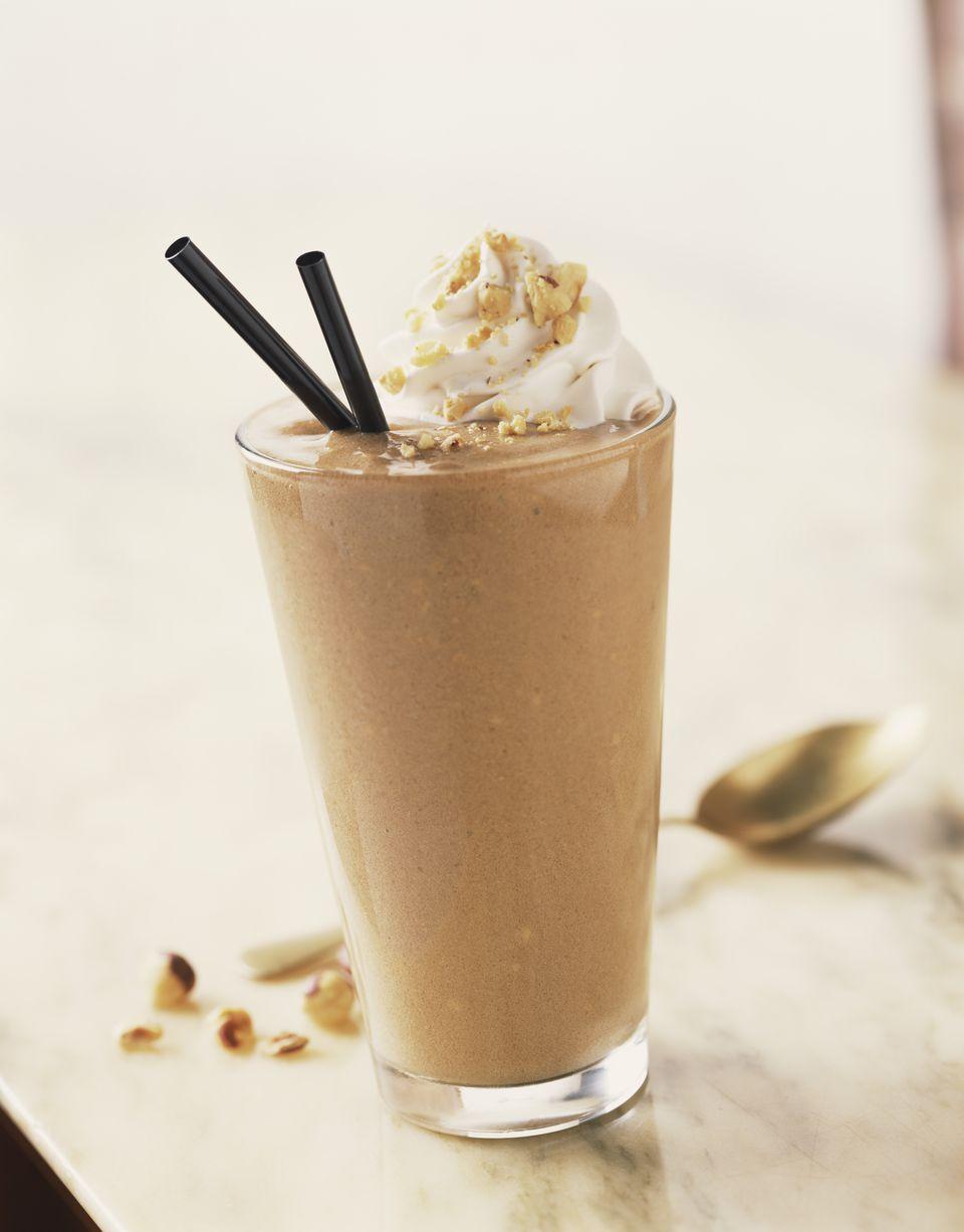 A chocolate milkshake