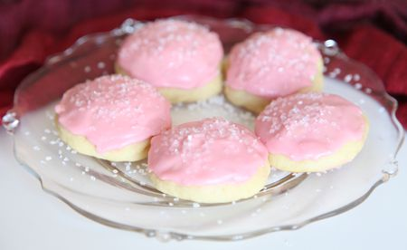 Almond Flavored Ricotta Cookies With Sugar Icing