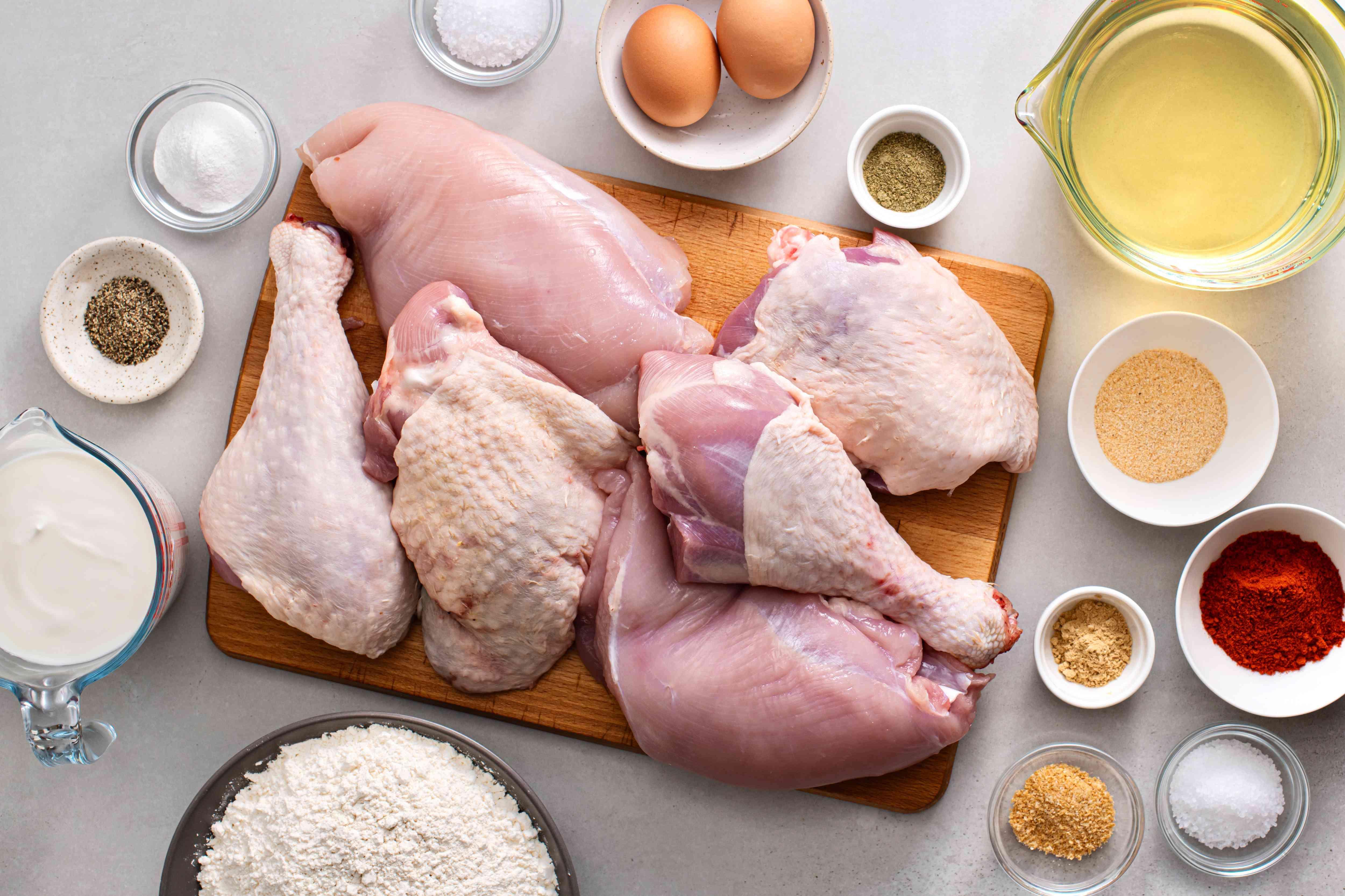 fried turkey ingredients