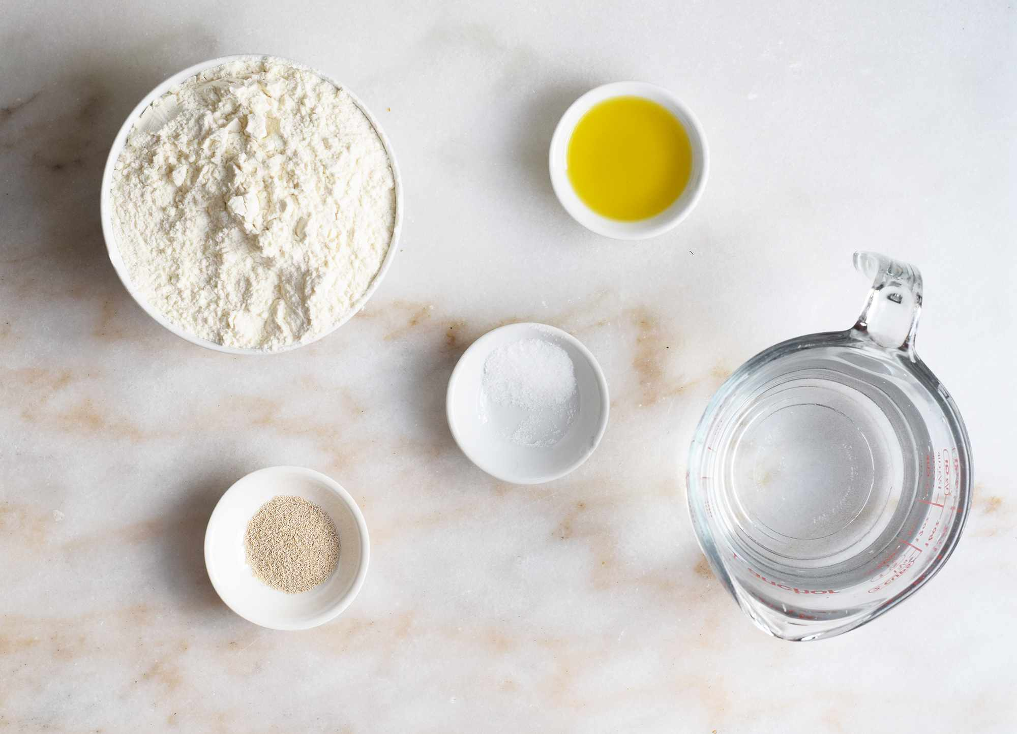 ingredients for a bread bowl
