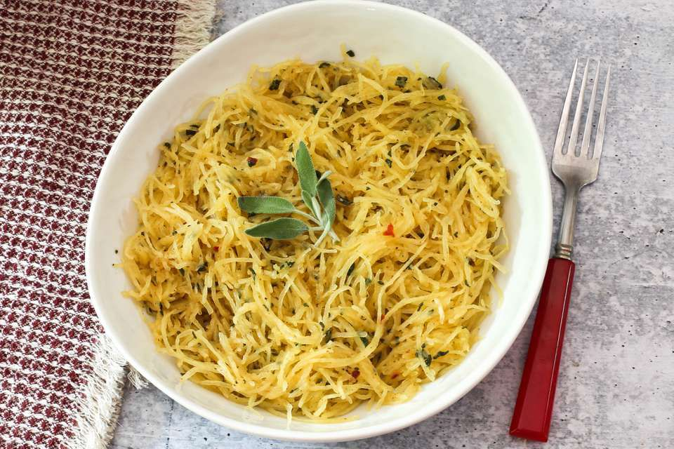 Instant Pot Spaghetti Squash With Sage Brown Butter Sauce