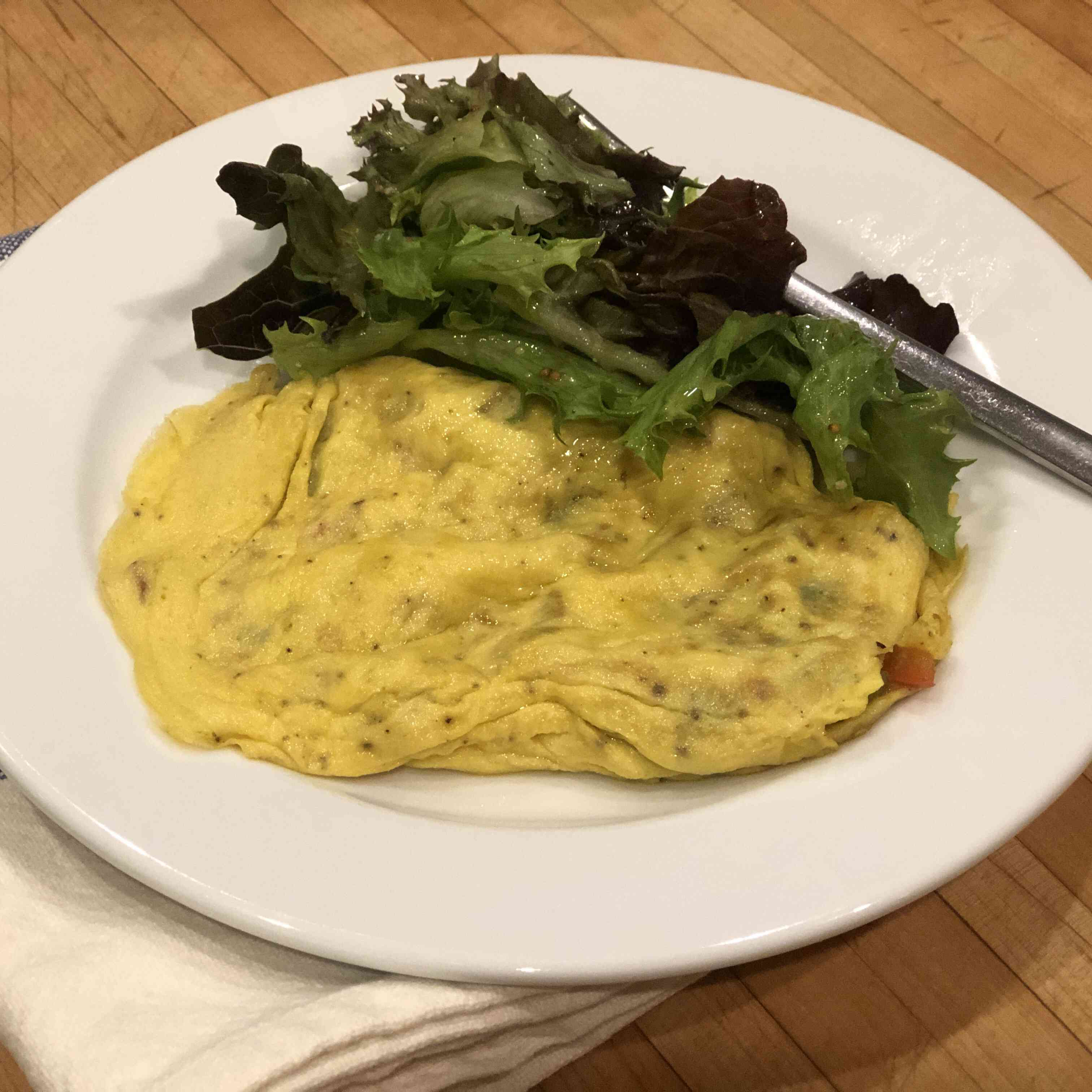 Vegetarian Omelette with Bell Peppers Tester Image