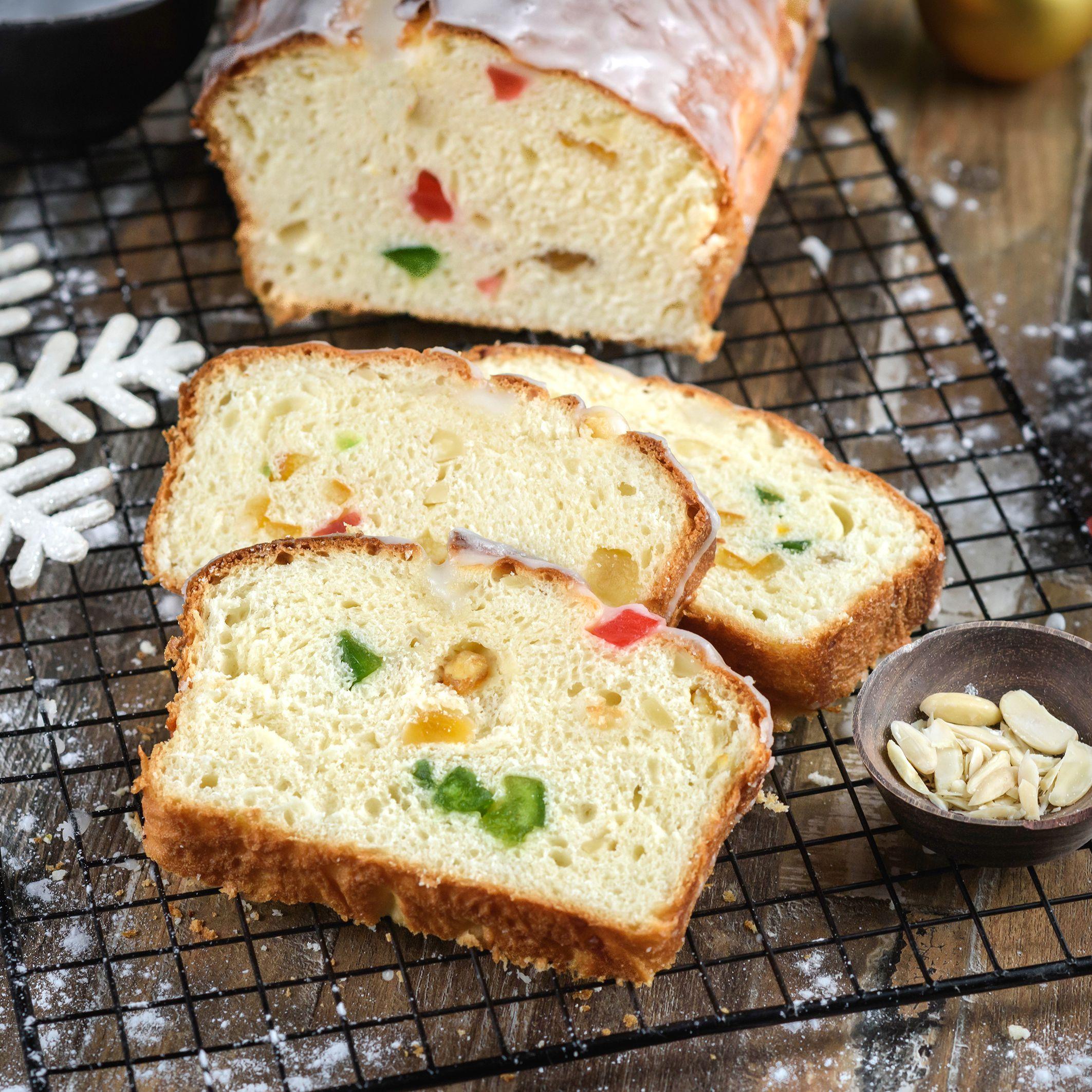 Christmas Bread.Christmas Stollen Sweet Bread